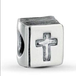 Pandora Retired Bible and Cross Charm